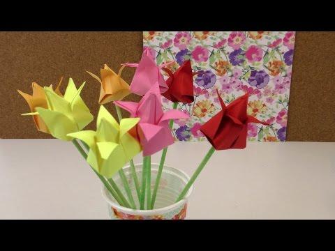 Xxx Mp4 Origami Tulpen DIY Blumen Falten Anleitung Deko Einfach Und Schnell Flower Origami Deutsch 3gp Sex
