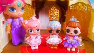 Don't Wake Shimmer and Shine Game LOL Dolls Morning Bedtime Routine Ballet Ballerina School Teacher!