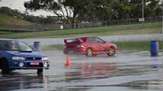NSW Impreza WRX Club Motorkhana skid pan - Round 1