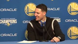 Klay Thompson Postgame Interview / GS Warriors vs Knicks / Jan 23