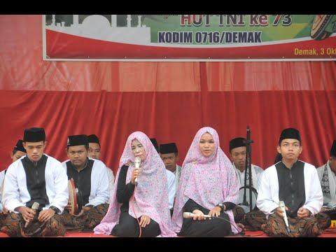Shoutul Akhtar SMK NU Ungaran - Festival Seni Kreasi HUT TNI 73 di Kodim Demak
