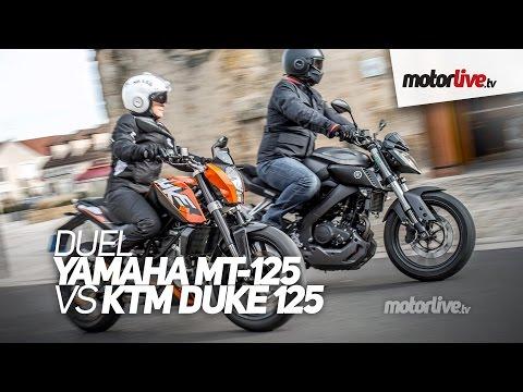 DUEL YAMAHA MT 125 vs KTM Duke 125 ABS Passionnantes