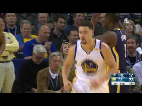 Klay Thompson 40 Pts in 1st Half   Pacers vs Warriors   December 5, 2016   2016 17 NBA Season