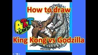 How to draw King Kong vs Godzilla