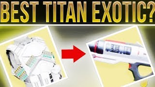 Destiny 2. The Best Titan Exotic Armor Piece (IMO). Awesome Titan Exotic and Legendary Combinations!