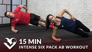 15 Minute Intense Six Pack Ab Workout No Equipment - 15 Min Abs 6 Pack Workout