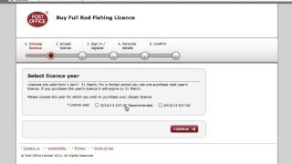 How to buy a rod licence (subtitled)