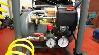 How to build a silent air compressor for under $20. DIY