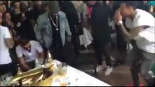 Ricky rick dancing with Chris brown