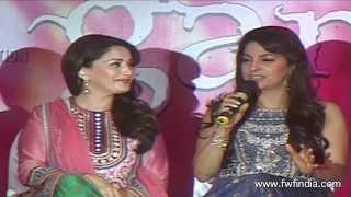 Madhuri Dixit And Juhi Chawla At 'Gulaab Gang' New Song Launch | Dheemi Dheemi