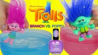 DREAMWOKS TROLLS MOVIE 2016 Poppy & Branch Color Changing NAIL POLISH DIY Toys