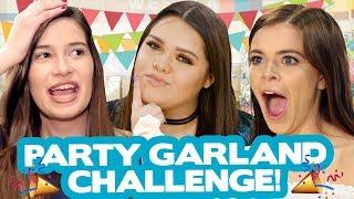 DIY PARTY GARLAND CHALLENGE?! w/ Karina Garcia, Marissa Rachel & Griffin Arnlund