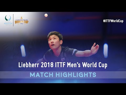 Tomokazu Harimoto vs Timo Boll I 2018 ITTF Men's World Cup Highlights (14)