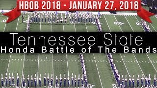Tennessee State Marching Band TSU - 2018 Honda Battle of the Bands HBOB BOTB
