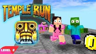 Monster School PopularMMOs Pat And Jen Minecraft: TEMPLE RUN CHALLENGE (Minecraft Animation Level 2)