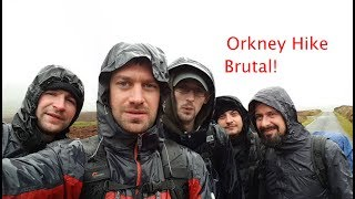 Our first brutal hike in Orkney - Kirkwall to Stromness
