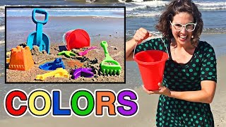 Best Learning Colors Video for Kids Learn Colours at the Beach Fun Playtime Sand Toys for Children