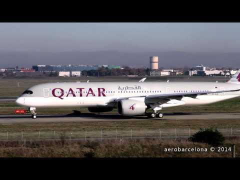 [FULL HD] Qatar Airways A350XWB -Delivery Flight-