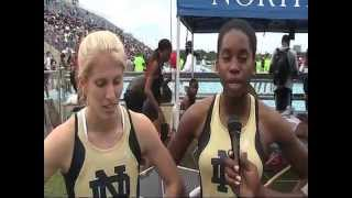 Notre Dame qualifies 2 in the 400 meters
