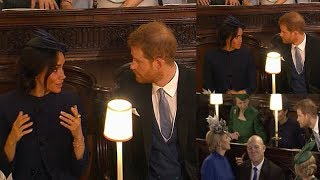 RARE MOMENT of conflict ! Meghan rolled her eyes seemed exasperated with Harry at Eugenie