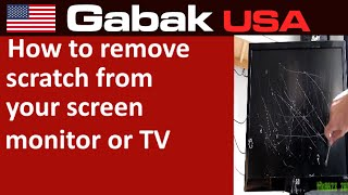 How to remove scratch from your screen monitor or TV - JOKE