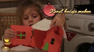 Vlog 135: Een  kersthuisje maken met lampje