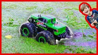RC Monster Truck Really Rides on Water!