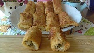 Kahvaltılık Tavada Peynirli Krep Börek Tarifi