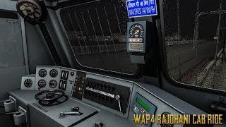 WAP4 Cab Ride LHB Rajdhani Express In Thundery Weather High speed
