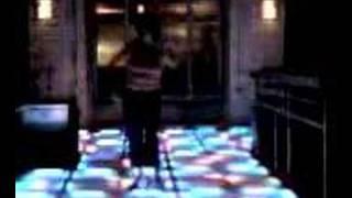Funny drunk woman dancing at Rain.