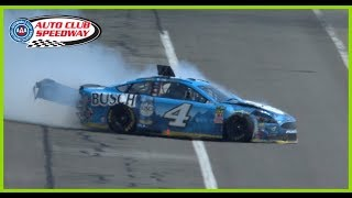 Harvick takes hard hit early at Auto Club Speedway