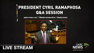 President Ramaphosa answers questions in Parliament