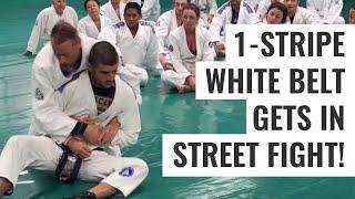 One-Stripe White Belt Gets into Street Fight!