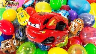 Learning Color Disney Cars Lightning McQueen Mack Truck full box suprise Egg Play for kids car toys