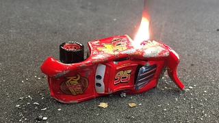 Cars 3 Lightning Mcqueen CRASH SCENE FIRE MOVIE next generation piston cup racers new diecast pixar
