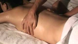 Body Massage Technique - Back with hot oil