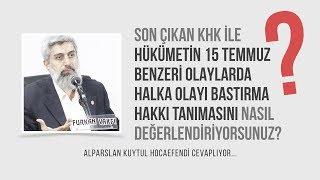 Halka 15 Temmuz benzeri olayları bastırma hakkı veren KHK