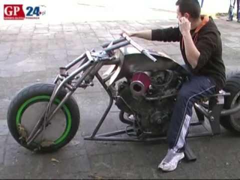 Motocykl w stylu dragster