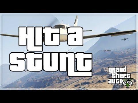 GTA 5 Stunts Hit a Stunt INSANE stunts FLYING Bikes and MORE Episode 1