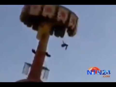 Impresionante accidente en parque de atracciones de Uzbekistán