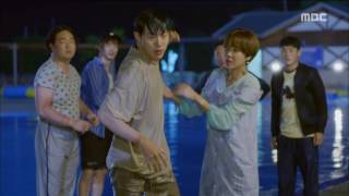 [Lucky Romance] 운빨로맨스 ep.09 Ryu Jun-yeol fall plop into the water 20160622