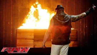 bray wyatt sends a fiery message to the undertaker raw march 2 2015