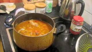 cooking abgoosht in Budapest