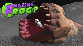 Destroying the Giant Moon Worm! - Let's Play The Amazing Frog Gameplay- Swindon Space Program Update