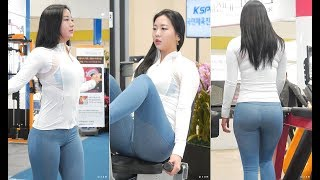 2018 SPOEX DA SPORTS 부스 - 피트니스모델 승민채 선수 운동연습 #3
