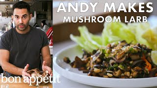 Andy Makes Mushroom Larb with Peanuts | From the Test Kitchen & Healthyish | Bon Appétit
