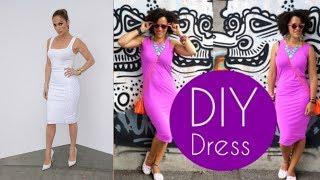 DIY DRESS in 5min | JENNIFER LOPEZ INSPIRED | DIY Clothes