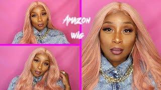 AMAZON ROSE GOLD PASTEL PINK WIG |$38 |TRY ON | Xiweiya Hair
