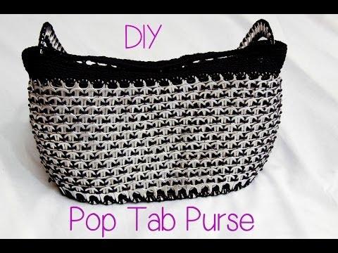 DIY Aluminum Pop Tab Handbag part 1
