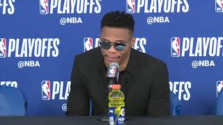 Russ, PG, Donovan interview after Game 5 against the Jazz